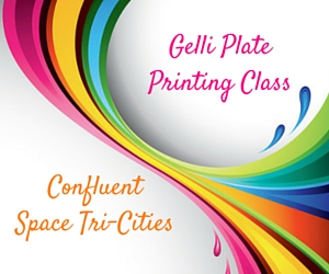 Gelli Plate Printing Class by Confluent Space Tri-Cities: A Unique Background to Any Art Piece | Richland, WA