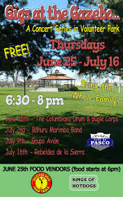 Gigs At The Gazebo; Concert Series At Volunteer Park In Pasco, Washington