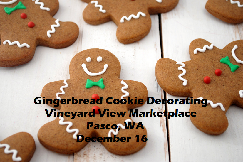 Gingerbread Cookie Decorating Vineyard View Marketplace Pasco, Washington