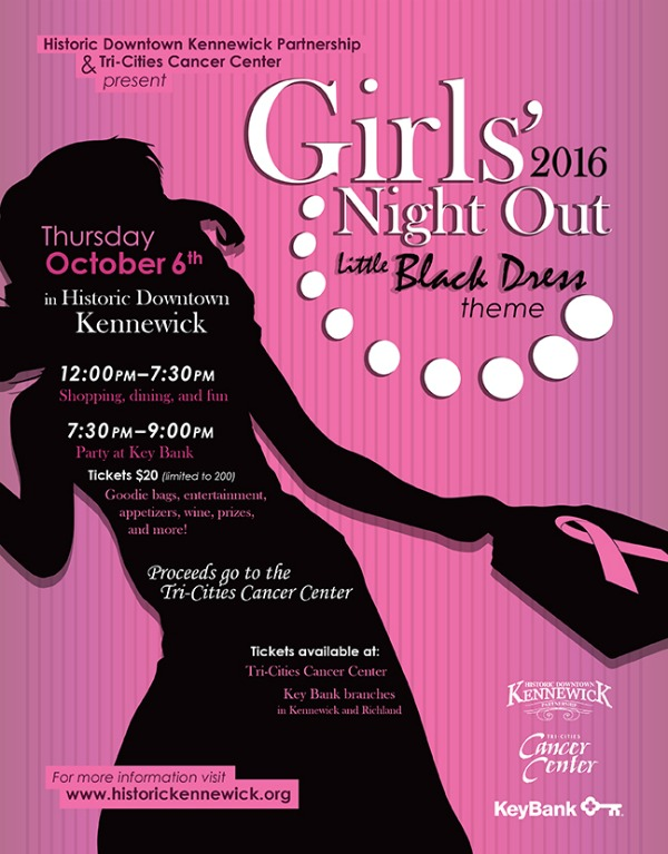 Girls Night Out: Little Black Dress Theme Benefiting the Tri-Cities Cancer Center in Kennewick