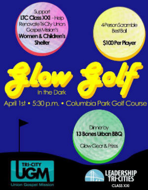 Glow Golf in the Dark Fundraiser: Support Leadership Tri-Cities Class XXI at Columbia Park Golf Course in Richland, WA