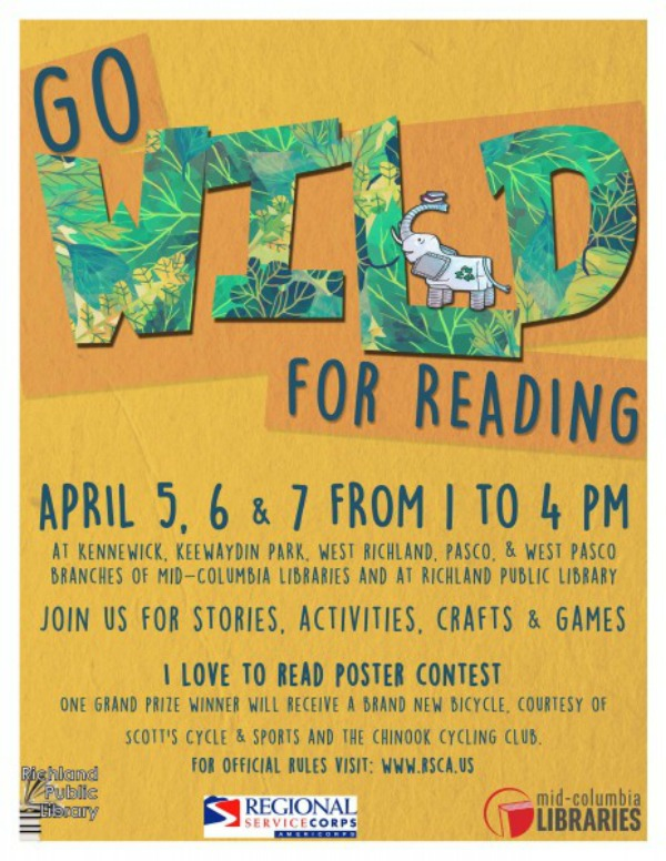 Mid-Columbia Libraries Presents Go WILD for Reading! with Regional Service Corps - AmeriCorps | Richland, WA
