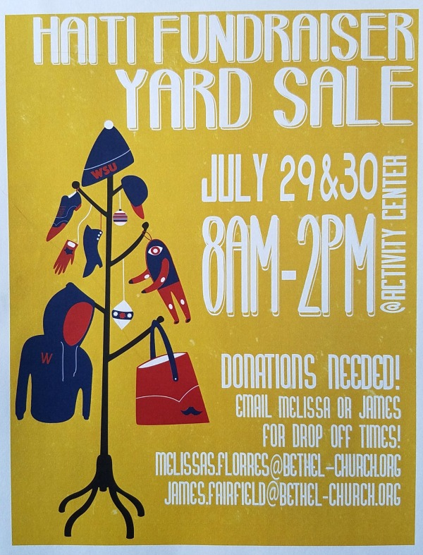 High School Haiti Fundraiser Yard Sale: Extending Help Through Buying and Selling | Bethel Church in Richland, WA