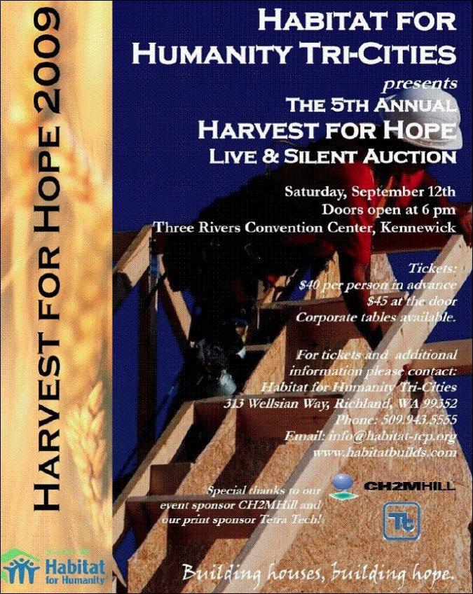Harvest For Hope | Habitat For Humanity | Tri Cities Washington