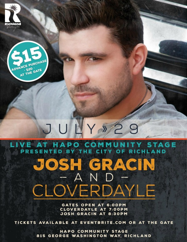Josh Gracin Live in Concert: Country Music Spree | HAPO Community Stage in Richland, WA