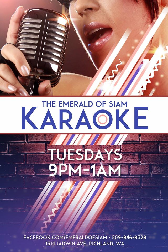 Karaoke Tuesdays At The Emerald Of Siam In Richland, Washington