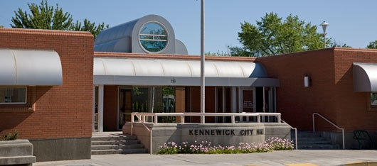 Bridge To Bridge - River To Railroad At The Kennewick City Hall Kennewick, Washington
