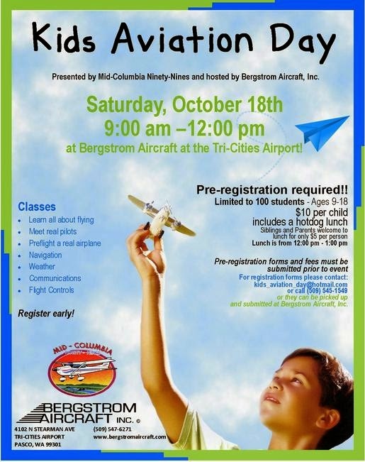 Kid's Aviation Day At Bergstrom Aircraft In Pasco, Washington