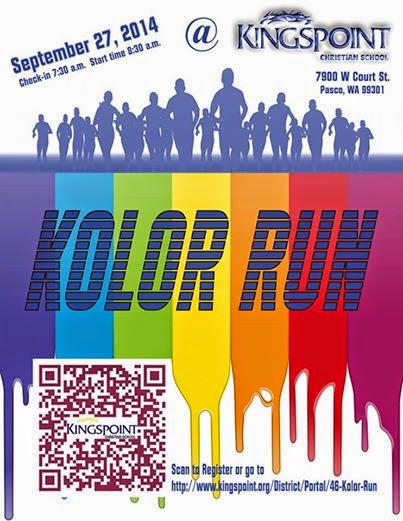 Annual Kingspoint Kolor Run Fundraiser In Pasco, Washington