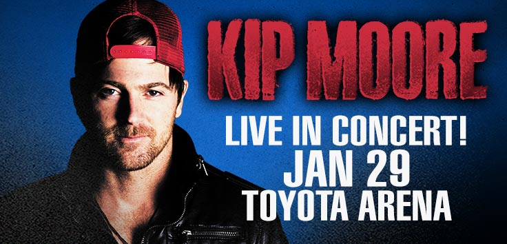 Singer - Songwriter Kip Moore Live At Toyota Center Kennewick, Washington