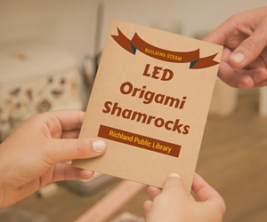 Building STEAM: LED Origami Shamrocks on St. Patrick's Day | Richland, WA