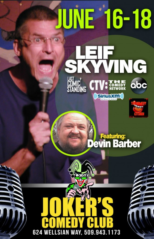 Jokers Comedy Club Presents Leif Skyving: Three Nights of Masterful Drollery | Richland, WA