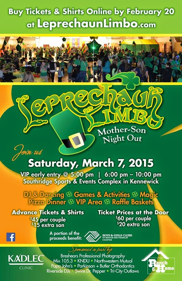 Leprechaun Limbo Night Out for Mother and Son, Southridge Complex Kennewick, Washington