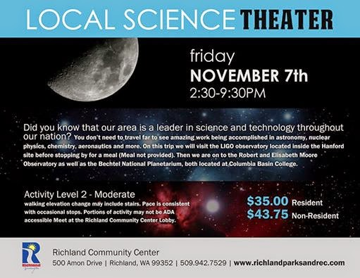 Local Science Theatre At The Richland Community Center, Amon Park Richland, Washington