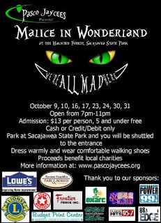 Pasco Jaycees Malice In Wonderland At The Haunted Forest Pasco, Washington