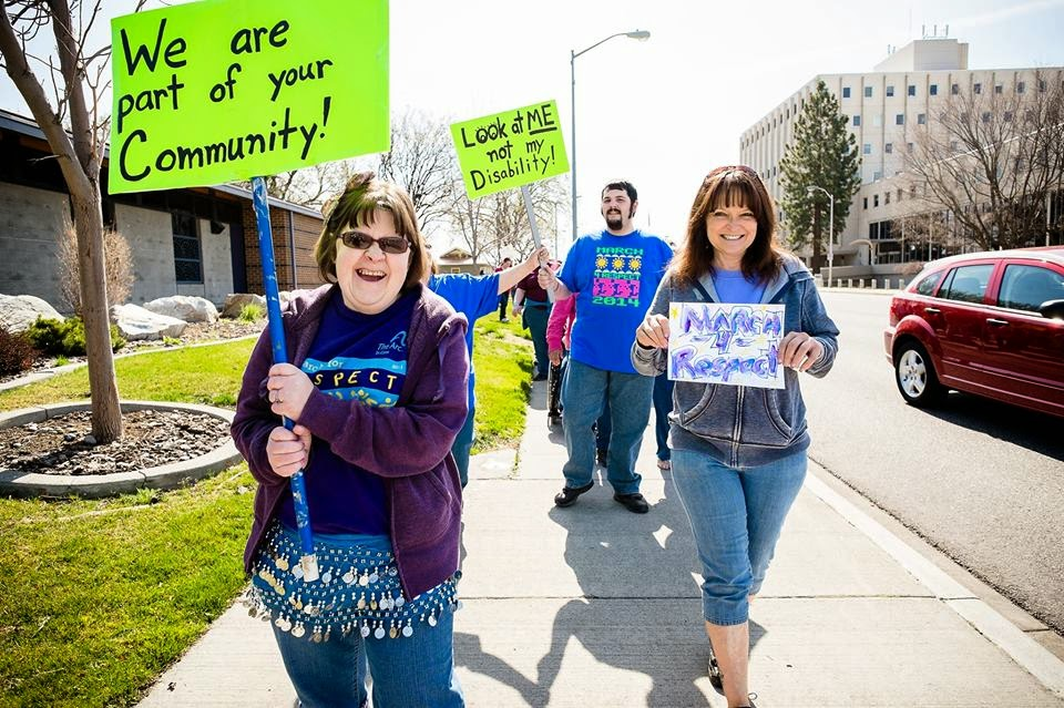 March For Respect At John Dam Plaza In Richland, Washington
