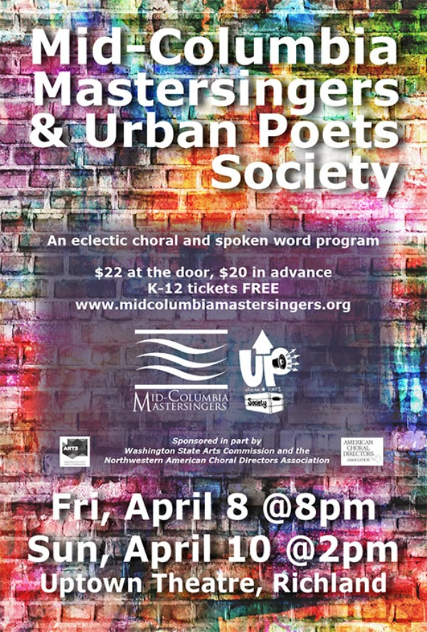 Mid-Columbia Mastersingers and Urban Poets Society: An Eclectic Choral and Spoken Word Program | Richland, WA