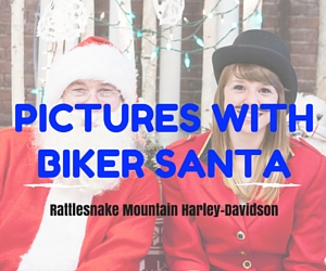 Rattlesnake Mountain Harley-Davidson's Photos with Biker Santa in Kennewick