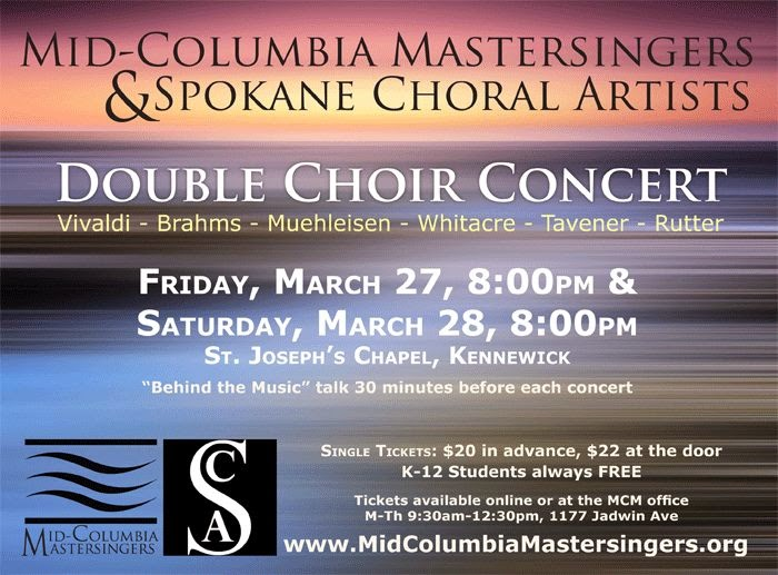 Mid-Columbia Mastersingers - Double Choir Concert In Kennewick, Washington
