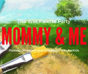 Mommy and Me - Painted Ornament and Glassware Party for Kids with Lisa Day  | Handmade Holiday Presents in Richland WA