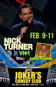 Nick Turner Performs at the Joker's Comedy Club | A Night of Har-De-Har in Richland, WA