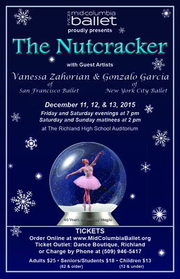 "Mid-Columbia Ballet Presents ""The Nutcracker"" Richland, Washington"