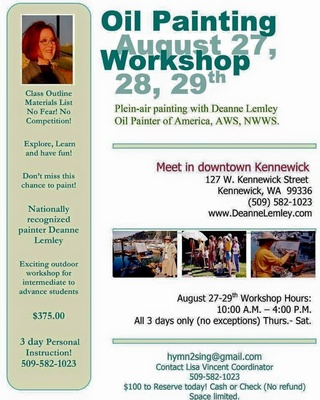 Deanne Lemley's Oil Painting Workshop In Downtown Kennewick, Washington