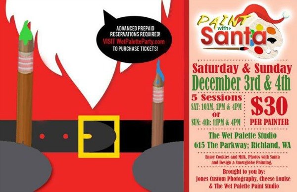 Paint with Santa: A Full-Pledged Christmassy Painting Affair at Wet Palette Party | Richland, WA