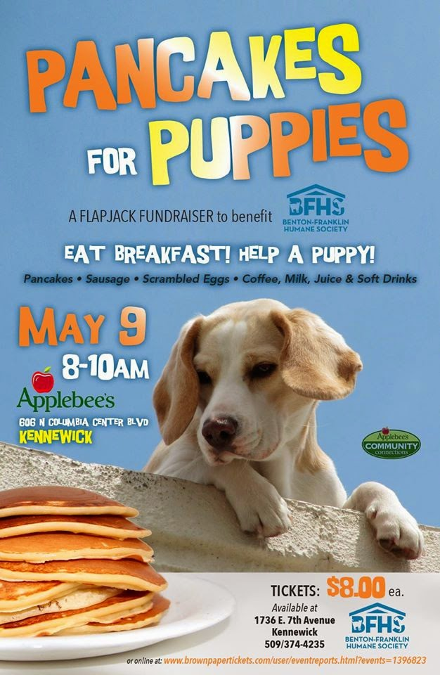Pancakes For Puppies At Applebee's In Kenenwick, Washington