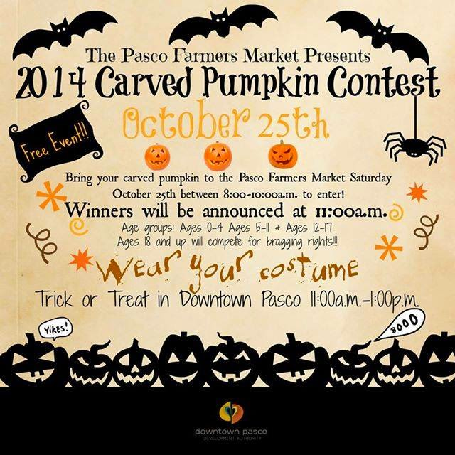 Carved Pumpkin Contest & Trick or Treat In Downtown Pasco, Washington