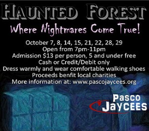 Pasco Jaycees Presents Haunted Forest: Where Nightmares Come True! | Pasco, WA