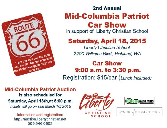 2nd Liberty Christian School Patriot Car Show & Auction In Richland, Washington