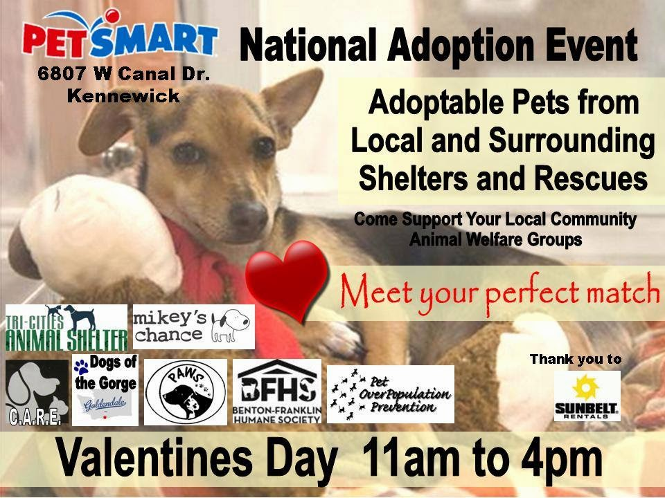 Be My Valentine Pet Adoption Event PetSmart Kennewick, Washington
