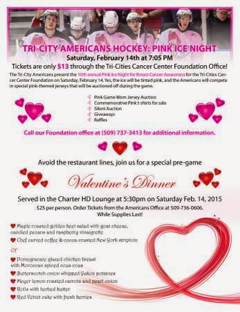 Tri-City Americans Pink Ice Night At The Toyota Center Kennewick Washington