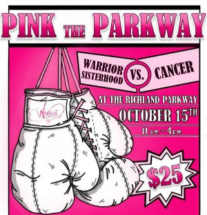 Pink the Parkway 2016 Annual Fundraiser for Warrior Sisterhood - A Support to Women Who Are Fighting Against Cancer | Richland, WA - Oct 15