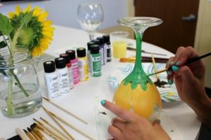 Painted Glassware with Lisa Day: Bail Out Your Creativity at The Wet Palette Studio | Richland, WA
