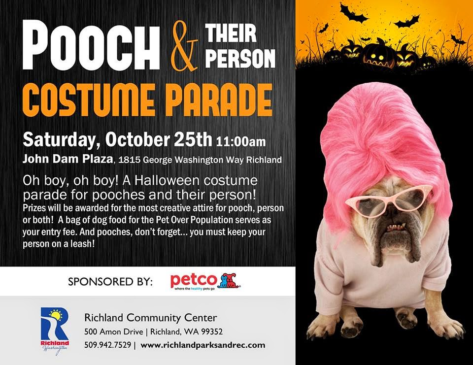 Pooch & Their Person Costume Parade John Dam Plaza In Richland, Washington