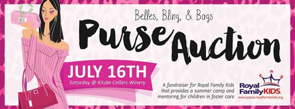 Belles, Bling and Bags Purse Auction for the Royal Family Kids Camp at Kitzke Cellars | Richland, WA