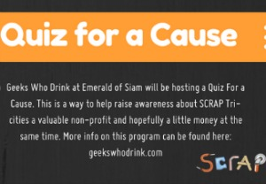 Quiz for a Cause: Geeks Who Drink at Emerald of Siam at Scrap Tri-Cities in Richland, WA