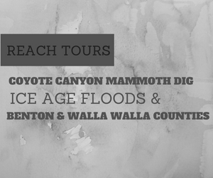 'Reach Tours' Presents Coyote Canyon Mammoth Dig and Ice Age Floods and Benton and Walla Walla Counties