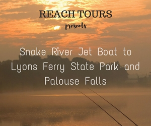 REACH TOURS Presents Snake River Jet Boat to Lyons Ferry State Park and Palouse Falls with Bruce Bjornstad in Richland, WA