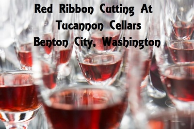 Red Ribbon Cutting At Tucannon Cellars In Benton City, Washington