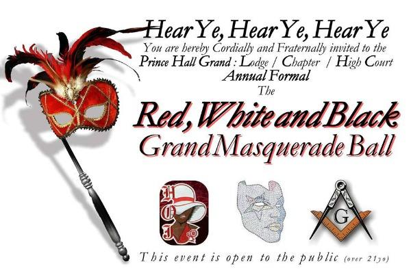 Red, White and Black Grand Masquerade Ball: A Celebration of the Most Worshipful Prince Hall Grand Lodge of Washington and Jurisdiction | Pasco, WA