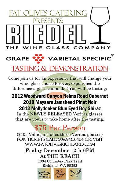 Riedel Grape Varietal Specific Tasting & Demonstration At The REACH Richland, Washington