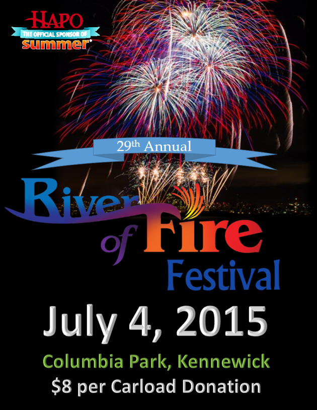 28th Annual River of Fire Festival in Columbia Park, Kennewick, Washington