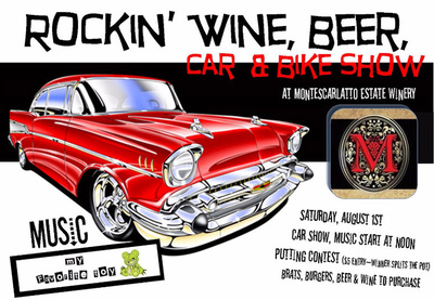 Rockin' Wine, Beer Car And Bike Show In Benton City, Washington
