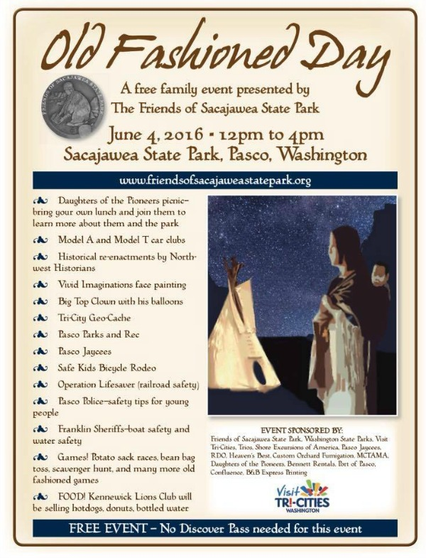 Old Fashioned Day - A Free Event for the Family Presented by The Friends of Sacajawea State Park | Pasco, WA