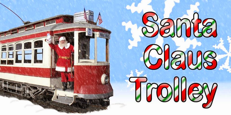 The Santa Claus Trolley In Yakima Valley, Washington
