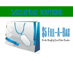 Sassafras Boutique's $5 Fill A Bag Event for the Benefit of Local Foster Families in Kennewick, WA