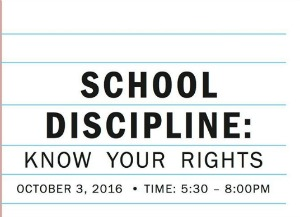School Discipline: Know Your Rights by Parent to Parent, The Arc of Tri-Cities | Richland, WA